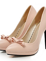 Women's Shoes Leatherette Stiletto Heel Heels Heels Outdoor / Casual Black / Pink / White / Beige