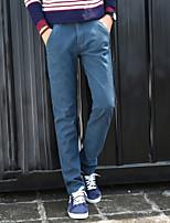 Men's Chinos , Casual / Plus Sizes Pure Cotton / Fleece