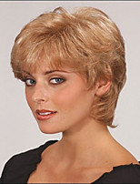 Woman's Curly Short Synthetic Mix Color Wigs