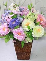 Poliéster / Plástico Rosas Flores Artificiales