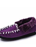 Chaussures Femme - Décontracté - Noir / Violet / Gris - Talon Plat - Confort / Bottine / Bout Arrondi - Bottes / Mocassins - Similicuir