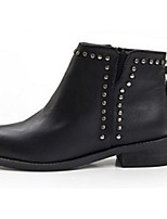 Women's Shoes Leatherette Low Heel Fashion Boots Boots Office & Career / Dress / Casual Black / Gray