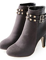 Women's Shoes Fleece Stiletto Heel Fashion Boots Boots Office & Career / Party & Evening / Dress Black / Brown / Gray