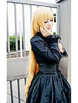 cos Lanting gosick victorique de Blois ouro longa cosplay partido peruca de cabelo anime