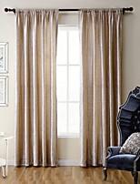 (One Panel) Bedroom Living Room Environmental Bronzing  Polyester Velveteen Curtain