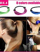 3pc/lot Elastic Hair Rope Women Headband Hair Accessories Strap Ponytail Holder Wig Rope Hair The Braided Tonytail