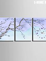 E-HOME® Flower Clock in Canvas 3pcs