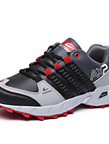 Men's Sports Shoes Running/Casual/Outdoor Microfiber Leather Fashion Sneakers Runing Shoes Green/Red 40-48
