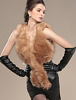 Women Faux Fur / PU Top , Lined