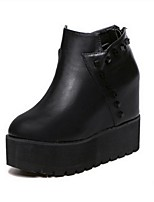 Women's Shoes Leatherette Platform Fashion Boots Boots Casual Black