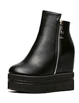 Women's Shoes Platform Comfort Boots Outdoor Black