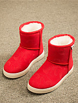 Girls' Shoes Outdoor / Dress / Casual Snow Boots / Round Toe Faux Fur Boots Blue / Brown / Pink / Red