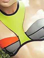 Mulheres Biquíni Cores Contraste / Geométrico Nadador Push-Up Poliéster / Elastano Mulheres