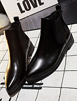 Women's Shoes Leatherette Chunky Heel Pointed Toe Boots Casual Black