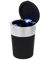 Universal Portable Cup Style LED Plastic Ashtray for Car Use(1 x CR2032)(Assorted Colors)
