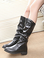 Women's New Arrival Shoes Flat Heel Comfort Biker Boots Dress / Casual Black / Brown / Gray