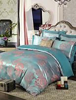 royal retro-stijl licht groen jacquard beddengoed set 4-delig