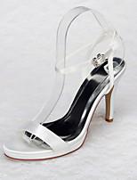 Women's Shoes Satin Stiletto Heel Heels / Peep Toe / Platform Sandals Wedding / Office & Career / Party & Evening