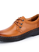 Men's Shoes Outdoor / Office & Career / Party & Evening / Casual Leather Oxfords Brown / Taupe