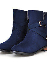 Women's Shoes Leatherette Low Heel Fashion Boots Boots Outdoor / Dress / Casual Black / Blue / Yellow