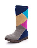 Women's Shoes Flat Heel Comfort Boots Casual Green / Gray / Beige
