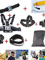 10in1 Gopro Accessories Set Hero 4 Chest +Head +Wrist Strap+Floating Bobber Monopod Go pro hero3 3+ Mount