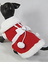 FUN OF PETS® Dog Christmas Clothes New 2015 Lovely Santa's Costume for Dogs Puppies Clothing (Assorted Sizes)