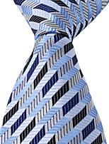 Men Adult Jacquard Silk Leisure Tie Necktie Colored Stripes