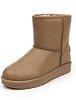 Women's Shoes Low Heel Round Toe Boots Casual Black / Brown / Beige / Khaki