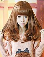 Angelaicos Women Fashion Super Model Style Sexy Glamour Nightclub Party Costume Hair Bob Wigs Medium Brown Black
