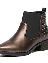 Women's Shoes Chunky Heel Combat Boots Boots Outdoor / Casual Black / Brown