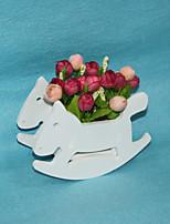 Plastic Fiber Board Small Wave Marca Flowerpot Vase Plastic Roses Artificial Flowers