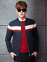 Men's Long Sleeve Jacket , Cotton Casual Pure