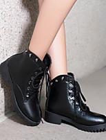 Zapatos de mujer - Tacón Plano - Botas Anfibias / Botas de Nieve / Botas a la Moda - Botas / Oxfords - Exterior / Casual - Tela / Napa -