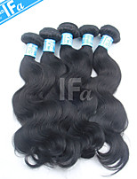 5pcs / lot al por mayor malasio onda del cuerpo del pelo humano sin procesar que teje el pelo virginal color 1b