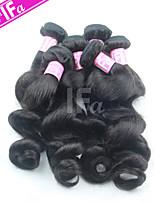5pcs / lot al por mayor brasileña onda floja extensión virginal color 1b del pelo humano