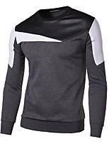 Herren Sport T-Shirt  -  Gestreift Lang Polyester
