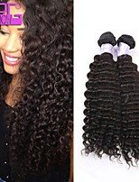 Virgin Brazilian Human Hair Kinky Curly Extension Natural Color Weaving 100g/pcs in Stock