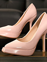 Women's Shoes Patent Leather Stiletto Heel Square Toe Heels Casual Black / Pink / White