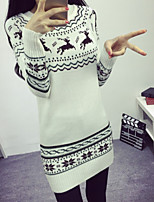 Women's Floral White / Gray Cardigan , Sexy / Casual Long Sleeve