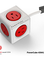 Besteye® Allocacoc PowerCube 4304/US Power outlet with 5 Outlets 3m 10ft Extension Cord Reddot Power Strip