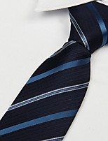 Black Blue Striped Arrow Type Men Leisure Necktie Tie