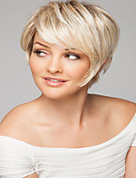 Natural Light Blonde Synthetic Short Wave Wigs  Extra High Quality