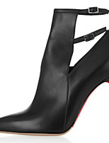 Women's Shoes Leather Stiletto Heel Heels / Pointed Toe Heels Wedding / Party & Evening / Dress Black
