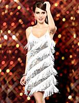 Vestidos ( Preto / Ouro / Vermelho / Branco , Elastano , Dança Latina ) - de Dança Latina - Mulheres