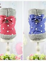 FUN OF PETS® Sweety Bownot Dot Design Lollipops Pattern Fleece Coat Dogs Clothing for Pets Dogs