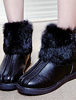 Women's Shoes Low Heel Round Toe Boots Casual Black / Yellow