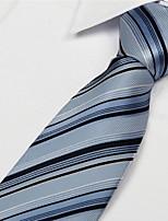 Black White Blue Striped Men Business Occupational Tie Necktie