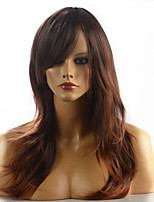 2015 Women Ombre Fashion Natural Wavy Brown Janpanese Heat Resistant Synthetic Long Hair Wig 8858-4T30 24