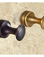 Bathroom Soild Brass Antique Bronze and Oil-rubbed Bronze Robe Hook Round Single Towel Hook